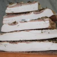 You can find the real Lardo di Colonnata IGP at the Larderia la Conca
